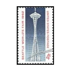 1 عدد تمبر نمایشگاه جهانی سیاتل - آمریکا 1962