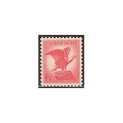 1 عدد تمبر عقاب روی سنگ - آمریکا 1963