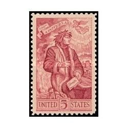 1 عدد تمبر دانته آلیگیری - آمریکا 1965
