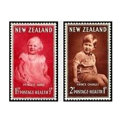 2 عدد تمبر بهداشت - نیوزلند 1952