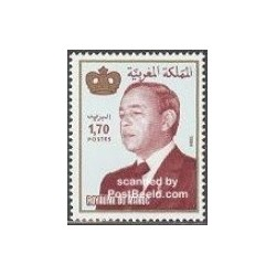 1 عدد تمبر سری پستی - سلطان حسن دوم - مراکش 1994