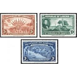 3 عدد تمبر صدمین سالگرد تاسیس لیبریا - لیبریا 1940