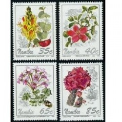 4 عدد تمبر گل - نامیبیا 1994