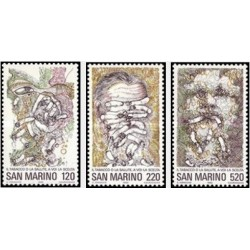 3 عدد تمبر کمپین ضد سیگار - سان مارینو 1980
