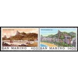 2 عدد تمبر شهرهای جهان - ریو دو ژانیرو - سان مارینو 1983