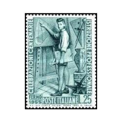 1 عدد تمبر صدمین سالگرد آموزش فنی در ایتالیا - ایتالیا 1955