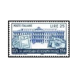1 عدد تمبر 80مین سالگرد پس انداز پستی - ایتالیا 1956