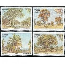 4 عدد تمبر گیاه عود  - وندا - آفریقای جنوبی 1988