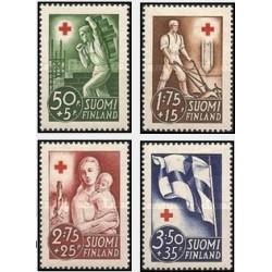 4 عدد تمبر خیریه صلیب سرخ - بازسازی - فنلاند 1941 قیمت 12.9 دلار