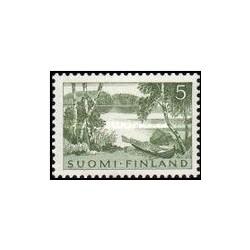 1 عدد تمبر مناظر - فنلاند 1961
