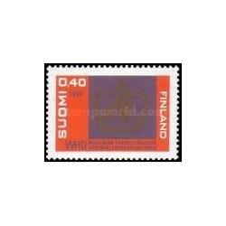 1 عدد تمبر 20مین سالگرد سازمان بهداشت جهانی - فنلاند 1968