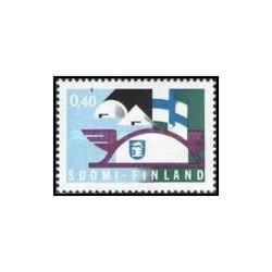 1 عدد تمبر نمایشگاه ملی و بین المللی معاملات و صنایع فنلاند - فنلاند 1969