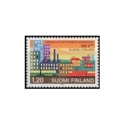 1 عدد تمبر صدمین سالگرد نیروگاه - فنلاند 1982