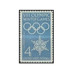 1 عدد تمبر بازیهای زمستانی المپیک - آمریکا 1960