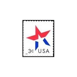 1 عدد تمبر ستاره - خودچسب - آمریکا 2002