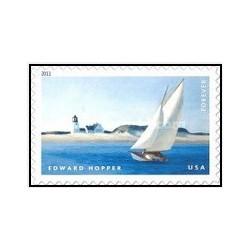 1 عدد تمبر نقاشی - بلند پایه ادوارد هاپر ، 1882 - 1967- خودچسب (44 سنت) - آمریکا 2011