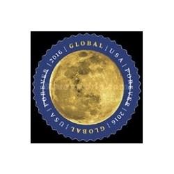 1 عدد تمبر ماه - تمبر دایره شکل  - آمریکا 2016