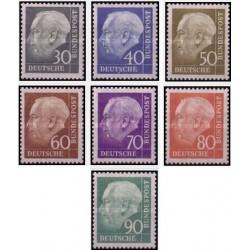 7 عدد تمبر سری پستی - پروفسور توریم . هیوس - جمهوری فدرال آلمان 1957 قیمت 20 یورو