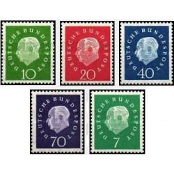 5 عدد تمبر پروفسور توریم . هووس - جمهوری فدرال آلمان 1959