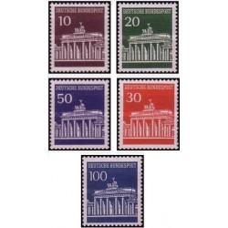 5 عدد تمبر سری پستی - تالار برندنبورگر - جمهوری فدرال آلمان 1966 قیمت 13.6 دلار