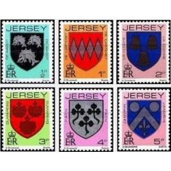 6 عدد تمبر سری پستی - نشانها - جرسی 1981