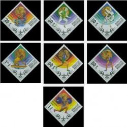 7 عدد تمبر مدال طلای برندگان المپیک - مسکو ، اتحاد جماهیر شوروی - مغولستان 1980