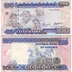 اسکناس 50 نایرا -نیجریه 1999