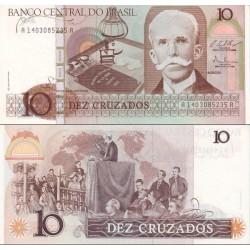 اسکناس 10 کروزادو - برزیل 1987