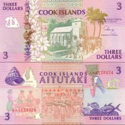 اسکناس 3 دلار - جزایر کوک 1992