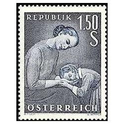 1 عدد تمبر روز مادر - اتریش 1958