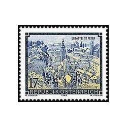 1 عدد تمبر صومعه اتریش - اتریش 1989
