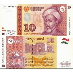اسکناس 10 سامانی - تصویر سید علی همدانی - تاجیکستان 1999
