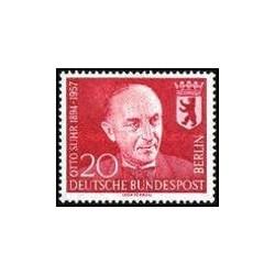 1 عدد تمبر یادبود اتو زور - سیاستمدار - برلین آلمان 1958