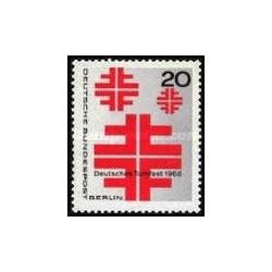 1 عدد تمبر مسابقات ژیمناستیک آلمان - برلین آلمان 1968