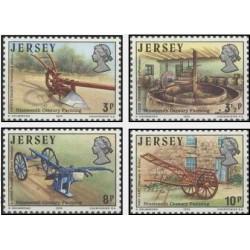 4 عدد تمبر کشاورزی قرن نوزدهم - جرسی 1975