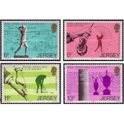 4 عدد تمبر صدمین سالگرد باشگاه گلف سلطنتی نیوجرسی - جرسی 1978