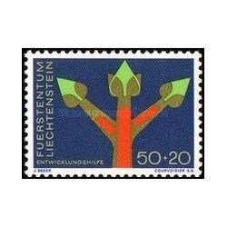 1 عدد تمبر کمک خارجی - لیختنشتاین 1967
