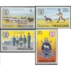 4 عدد تمبر مدرسه پلیس - سوایزلند 1977