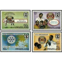 4 عدد تمبر 80مین سالگرد روتاری بین المللی - سوایزلند 1985