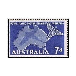 1 عدد تمبر خدمات پزشکی پروازهای مجلل - استرالیا 1957