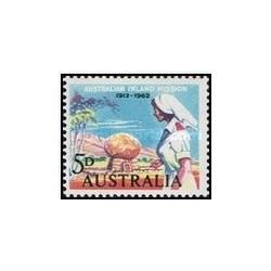 1 عدد تمبر 50مین سالگرد ماموریت داخلی استرالیا - استرالیا 1962