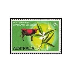 1 عدد تمبر همایش بین المللی چمنزارها - استرالیا 1970