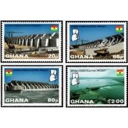 4 عدد تمبر پروژه برق آبی کپونگ - غنا 1982 قیمت 9.7 دلار