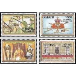 4 عدد تمبر آزادی - چاپ مسائل مربوط به اوگاندای آزاد - اوگاندا 1979