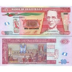 اسکناس 10 کواتزل - گواتمالا 2012