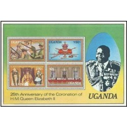 سونیرشیت 25مین سالگرد تاجگذاری ملکه الیزابت دوم  - اوگاندا 1979