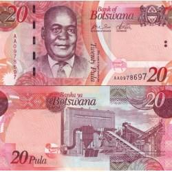اسکناس 20 پولا - بوتسوانا 2009