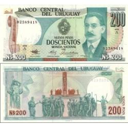 اسکناس 200 پزو - اورگوئه 1986