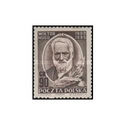 1 عدد تمبر 150مین سالگرد تولد ویکتور هوگو - لهستان 1952