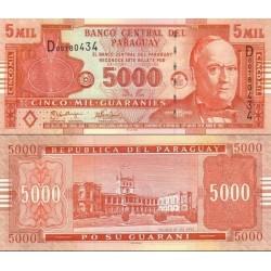 اسکناس 5000 گورانی - پاراگوئه 2005 سری D